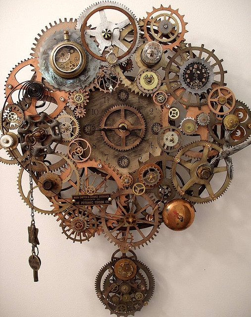 Steampunk Gear Drawing Clock Gears Steampunk