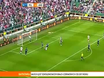 Rewelacyjny gol Lewandowskiego (Polska-Andora)