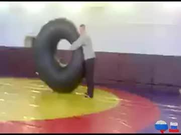 Zabawa na wf'ie w rosyjskiej szkole