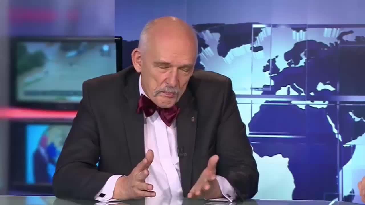Żart Janusza Korwin Mikkego - Czy Kaczyński ma jaja?