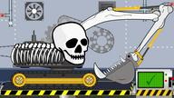 Excavator Skeleton Halloween | Toy Factory | Video for Kids - Koparka szkieletor na Halloween