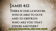 Czy wiesz, że Biblia wyraźnie mówi, iż tym, który może nas zbawić, jest ten, który dał nam Prawo (lub Zakon, a inaczej Torę)?  Jeśli to Jezus (Jego skrócone hebrajskie imię to Jaszua) jest naszym Zbawicielem, tym kto nas wyzwala i ratuje, to automatycznie wysuwa się wniosek, że i On jest Prawodawcą (że to On dał Torę). Czy tak rzeczywiście jest? Zapraszamy do badania i szukania prawdy.