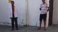 Dozorca zauważył podejrzanych mężczyzn. Nagrywając wszystko udaremnił... (Brazylia)