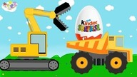 Toys Vehicles Construction Machine | Excavator Dump Truck For Kids | Complication of Baby Dinosaurs